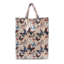 Womens high quality customize PVC Medium and Shoulder Bag with Butterfly printed