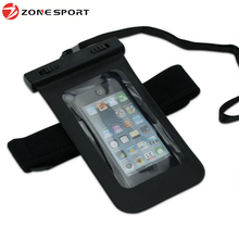 Hot sale PVC smartphone waterproof case with armband and earphone output for iphone for samsung