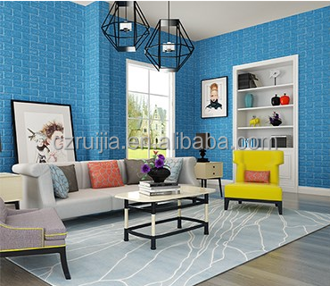 Hot selling non-toxic 3D Bedroom Living Room Modern Wall Background Brick Pattern Wallpaper Foam 3D wall sticker