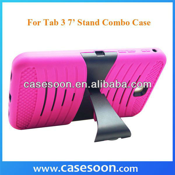"Soft Hard Combo Case For SAMSUNG GALAXY TAB 3 P3200 P3210 7.0"" With Stand,For Samsung Galaxy Tab 3 7 Case"