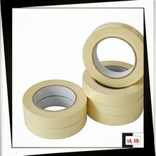 Rubber adhesive no glue residue brown masking tape