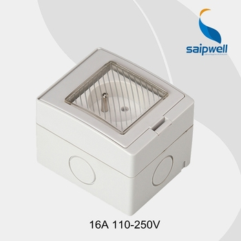 Electrical waterproof IP55 socket, wall socket outlet for home use 16A 110-250V, CE (SP-FR)