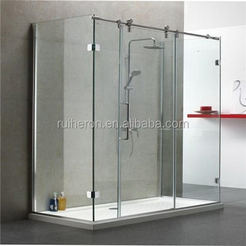 Customizes size aluminum frame simple and fashionable shower enclosure sliding glass door