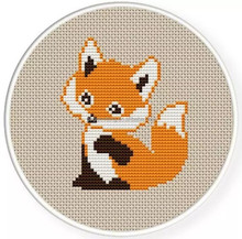 new fashion craft kit cross stitch kit sewing diy embroidery kit needle point cute fox