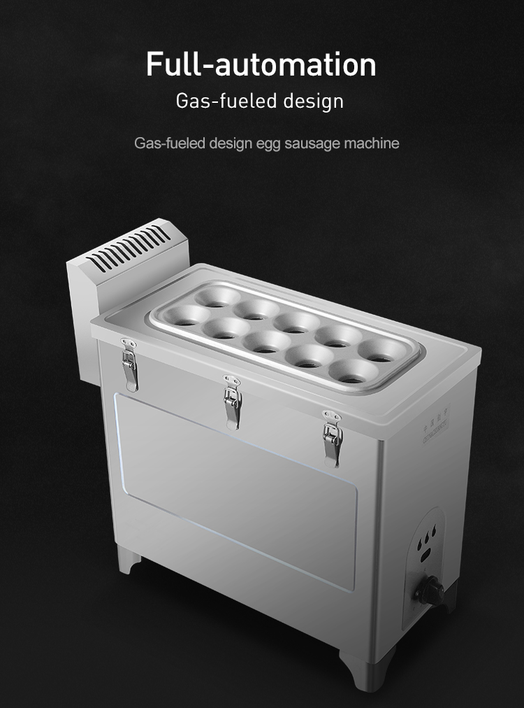 High efficient egg sausage maker electric gas type breakfast egg sausage machine