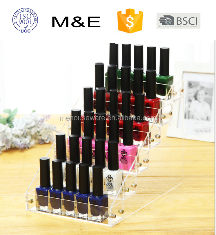 Clear acrylic nail polish display manufacturer from China