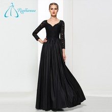 Black Beautiful Modern Long Sleeve Evening Dress