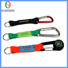 OEM promotional gifts compass carabiner short strap