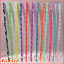 Nestle supplier offer Assorted Color Clear tight Striped Drinking Straw with Stopper