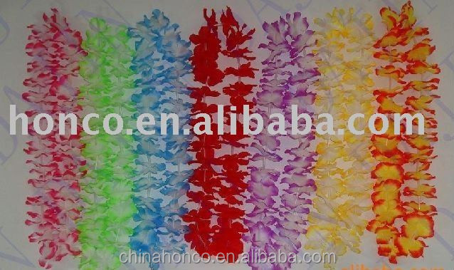 Hawaii Leis Hot Sale / Hawaii Leis for Football Fans / Fashion Polyester Hawaii Flower Leis from China