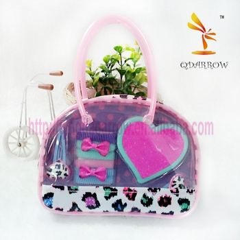Gift bag with heat shape mirror clips set for hair