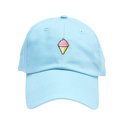 2017New Custom Polo Style Embroidered Ice Cream Promotional Baseball Face Cap Hat Factories In China