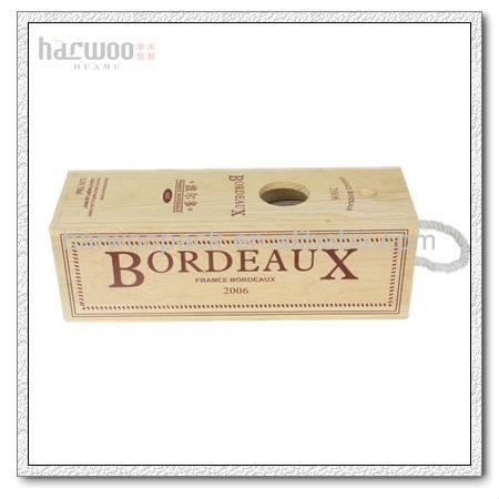 Wood Wine Carrying Bag Manufacture Box