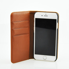 Flip genuine leather phone case for iphone 6s case