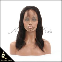 2015 New For Sale Remy Malaysian Virgin Hair Lace Wig Brazilian Straight Wavy Wig With Baby hair