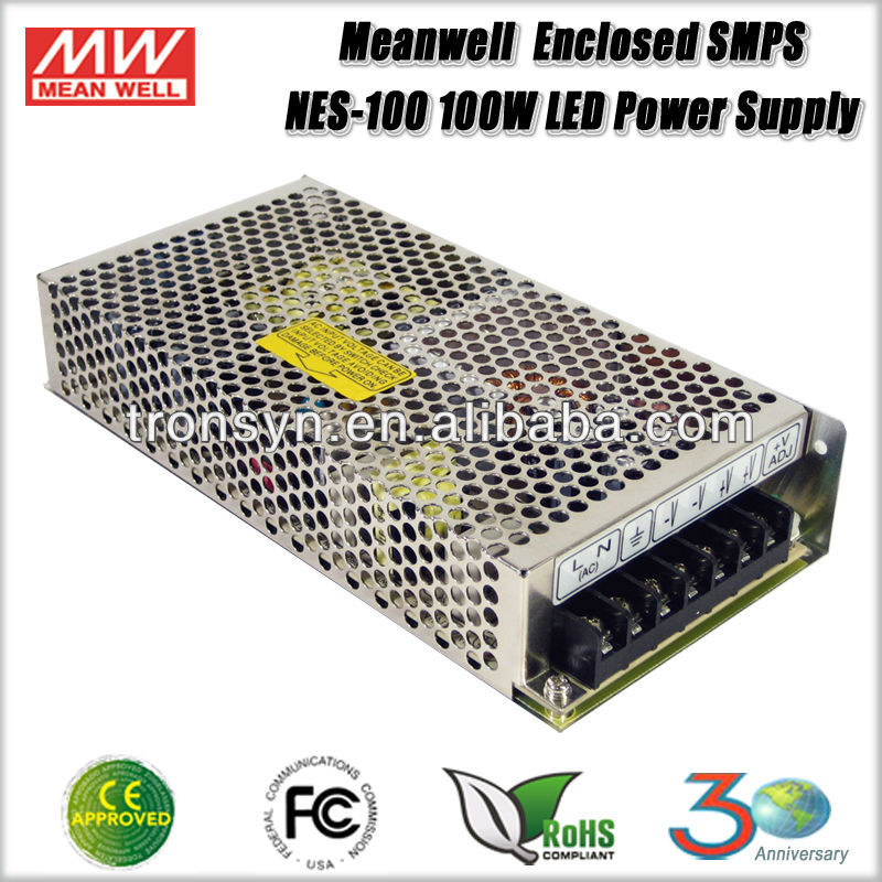 Meanwell NES-100-12 (100W 12V 8.5A) 100W 12V Enclosed SMPS Single Output LED Switching Mode Power Supply