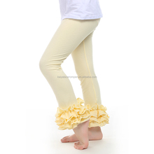 solid tight baby ruffle girls legging