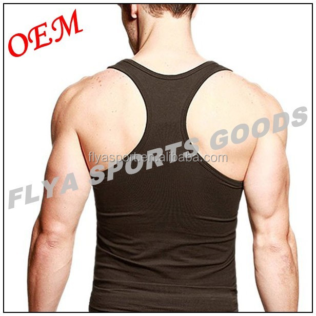 2018 Custom gym vest cool sleeveless singlet clothing tank top for men OEM stringer