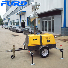 4-spotlight Mobile Lighting Tower with Single-phase 5 KVA Generator (FZMT-1000B)