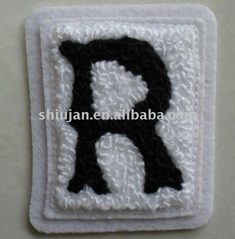 Letter R Chenille embroidery patches