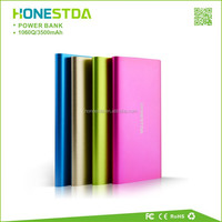 Outdoor portable power bank with metal case for smart phone
