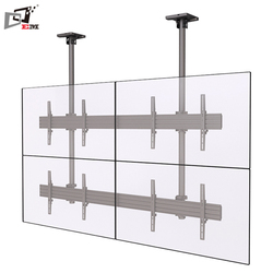 Height Adjustable Aluminum 2X2 Video Wall Telescopic TV Ceiling Mount Ceiling Pole Mount For TV