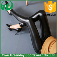 2016 Sexy Black PU Leather Pants,women leather pant, women leggings
