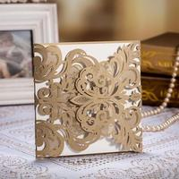 2017 unique boxed Wedding Invitation Card Laser Cut handmade paper crafts CW3109