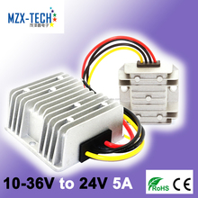 MZX-TECH Manufacturer 12V 24V to 24V 5A DC/DC Step Up Down Boost Buck Converter Voltage Regulator 24V DC 5A Motor Power Supply
