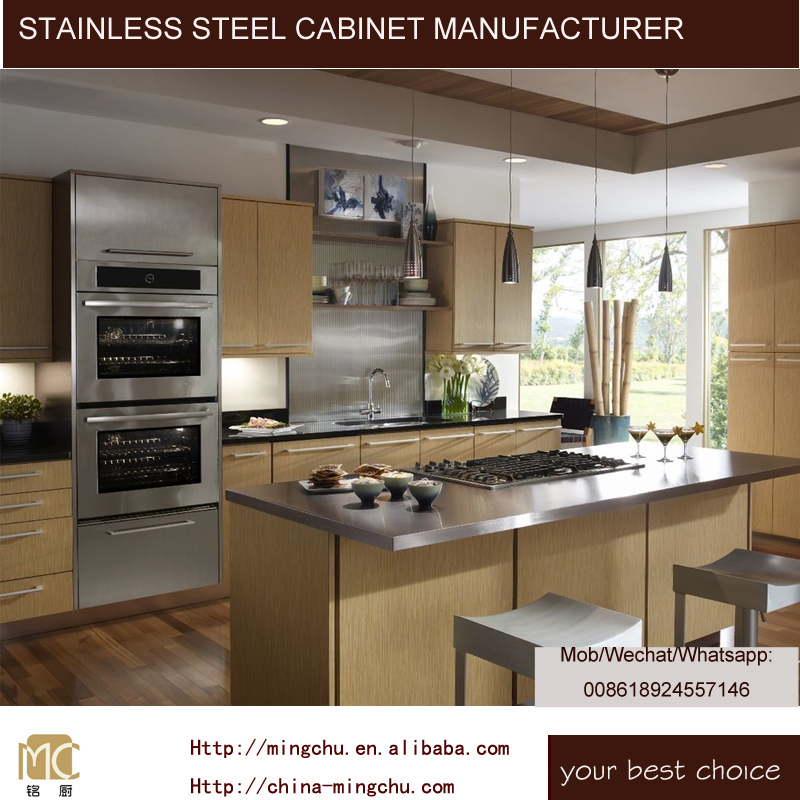 Mingchu Stainless steel ready made kitchen cabinets with sink