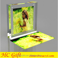 "Hot sale customized clear acrylic 4""x6"" 5""x7"" 6""x8"" magnet photo frame direct sale"
