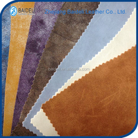 vinyl PVC pu synthetic yangbuck leather for bag, sofa, furniture