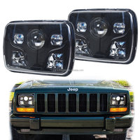 "5""x 7"" Square LED Headlights Projector With High/Low Beam DRL Driving Lamp For Truck Jeep Offroad Car"