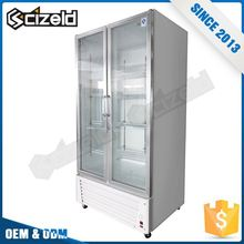 New Glass Cabinets Display Commercial Meat Refrigerator Showcase