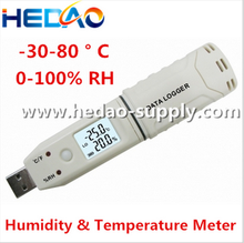USB LCD Temperature Humidity Data Logger Acquisition System Thermometer Recorder