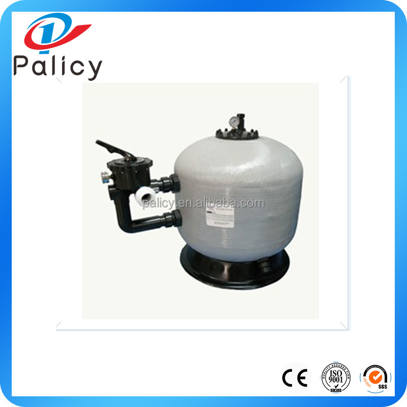 The swimming pool thermal plastic sand filter and pump
