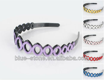 2013 Hot-selling Fashion hair accessories plastic headband