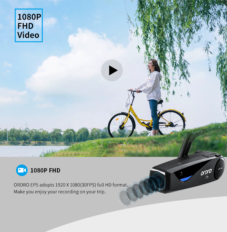 EP5 1080P mini video camera head wearable camcorder traveler hd video camera