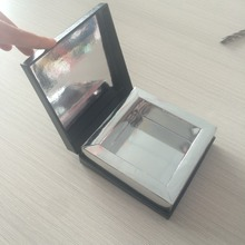 Free Sample Assurance Accept 2016 New Design Rectangle Matte Black Outside Silver Dates Gift Box With Shiny Silver Inside