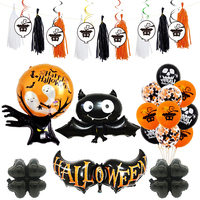 New Halloween foil Balloon Party Decoration Balloon Pumpkin Spider Ghost Monster Head Witch balloon