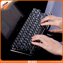 Retro design wired typewriter keyboard 68key mechanical keyboard Brown Switch typewriter