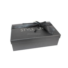 Yilucai Beauty Printed Logo Cheap Clear Cardboard Shoe Boxes for Sale