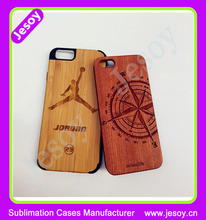 JESOY Hot Selling Real Wooden Case For iPhone 4 4s 5 5s Custom Print Phone Cases