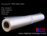 "PET Coated Transparency Film For Inkjet Printers Rolls 60""*30m"