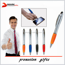 promotion logo print venus pen with led light and stylus