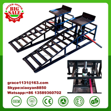 10000lb Capacity metal Heavy Duty Portable Hydraulic Vehicle Pair Ramps Lift Car Truck Repair House Deals ramp with hydraulic