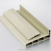 High quality white color plastic extrusion pvc window profile