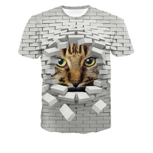polyester sublimation 3D animal printed t shirt wholesale