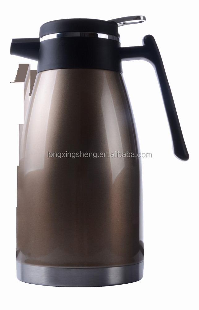 stainless steel arabic thermos jug/2.0L double wall ss coffee pot for coffee or water