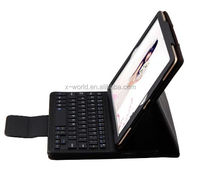 Bluetooth 3.0 Keyboard Leather Case Wireless Leather Keyboard Case with Removable Keyboard for iPad Pro 9.7""